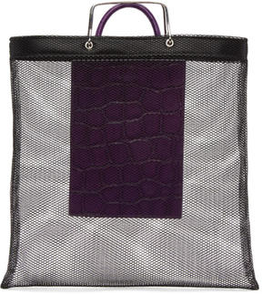 Givenchy Black and Purple Mesh Tote