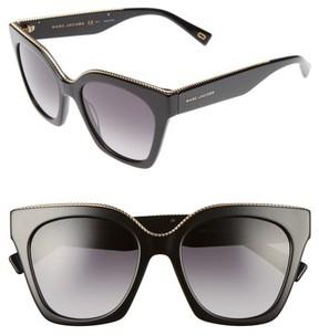 Marc Jacobs Women's 52Mm Square Sunglasses - Black