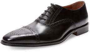 Saks Fifth Avenue Men's Meddalion Perforated Cap-Toe Oxford