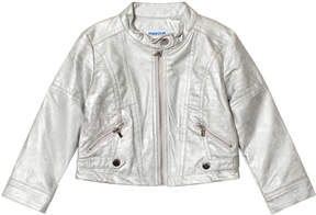 Mayoral Silver Pleather Jacket