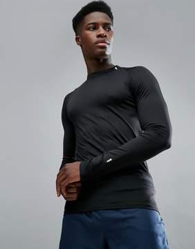 New Look SPORT Long Sleeve Top In Black