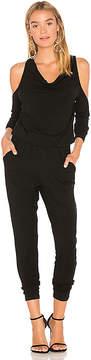 Bobi BLACK Cold Shoulder Jumpsuit