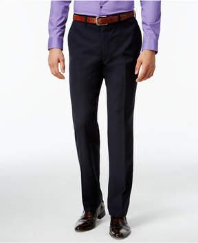 Bar III Navy Tonal Check Slim-Fit Pants
