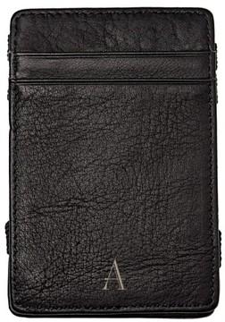 Women's Cathy's Concepts 'Magic' Monogram Leather Wallet - Black