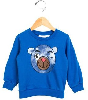 Mini Rodini Boys' Pullover Bear Print Sweatshirt