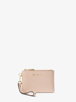 Michael Kors Mercer Leather Coin Purse - PINK - STYLE