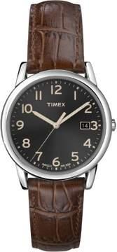 Timex Men's South Street Watch, Brown Croco Pattern Leather Strap