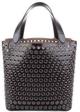 Alaia Grommet-Embellished Leather Tote