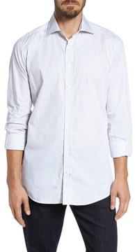 Luciano Barbera Men's Classic Fit Stripe Sport Shirt