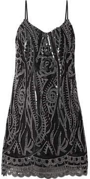 Anna Sui Embellished Tulle Mini Dress - Black