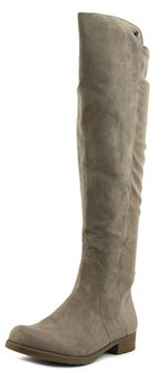 G by Guess Cyclone Women Round Toe Canvas Gray Over The Knee Boot.