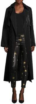 RtA Women's Karina Starred Duster Coat