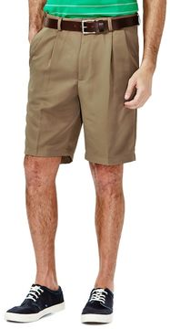 Haggar Big & Tall Cool 18® Pleated Microfiber Shorts