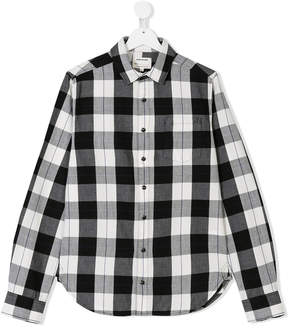 Zadig & Voltaire Kids TEEN rock print plaid shirt