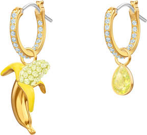 Swarovski No Regrets Banana Pierced Earrings, Multi-colored, Gold plating