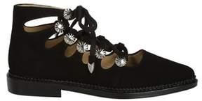 Toga Pulla Women's Black Suede Flats.