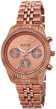 August Steiner Womens Rose Goldtone Strap Watch-As-8103rg
