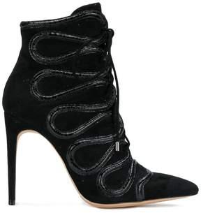 Alexandre Birman embellished lace-up boots