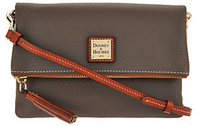Dooney & Bourke As Is Pebble Leather Foldover Zip Crossbody - ONE COLOR - STYLE