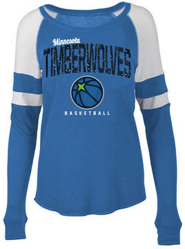 5th & Ocean Women's Minnesota Timberwolves Space Dye Long Sleeve T-Shirt