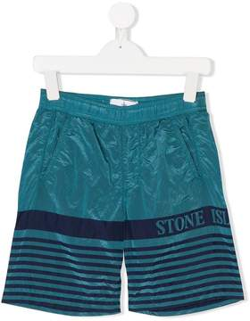 Stone Island Junior striped swim shorts