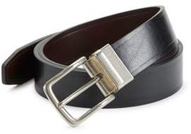 Black & Brown Black Brown Reversible Faux Leather Belt