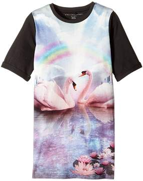 Stella McCartney Hepsie Rainbow and Swan Jersey Dress