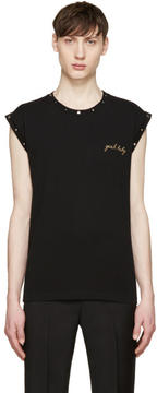 Saint Laurent Black Studded Yeah Baby T-Shirt