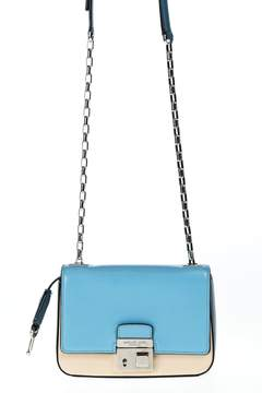 Michael Kors Shoulder Bag Gia - AZURE AND CREAM - STYLE