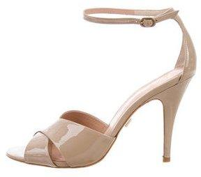 Pour La Victoire Patent Leather Crossover Sandals