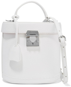 Mark Cross Benchley Textured-leather Shoulder Bag - White