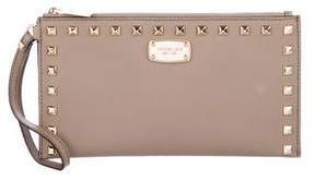 MICHAEL Michael Kors Leather Stud Wristlet