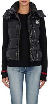Moncler Women's Galene Down-Filled Tech-Taffeta Hooded Vest