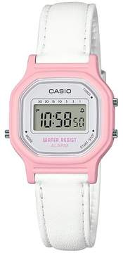 Casio Women's LA11WL-4A Digital Watch - White/Pink