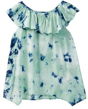 Splendid Allover Tie Dye Voile Top (Big Girls)