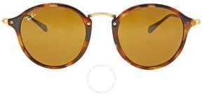Ray-Ban Round Fleck Brown Classic B-15 Sunglasses