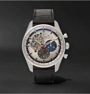 Zenith El Primero Chronomaster 1969 42mm Stainless Steel And Alligator Watch