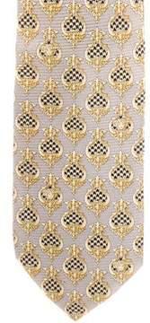Gianni Versace Silk Baroque Print Tie