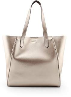 Hogan Women's Gold Leather Tote.