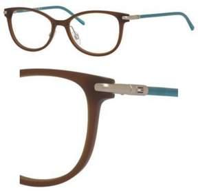 Tommy Hilfiger T_hilfiger 1398 Eyeglasses 0R2X 52 Brown Turquoise