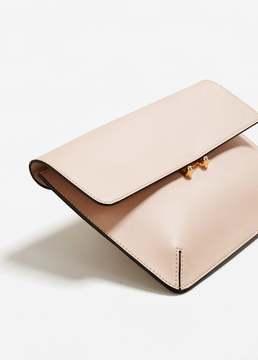 MANGO Pebbled clutch bag