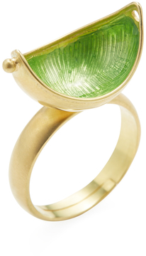 Amrapali Women's 18K Yellow Gold Crescent Ring