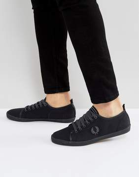 Fred Perry Kingston Shower Resistant Canvas Sneakers in Black