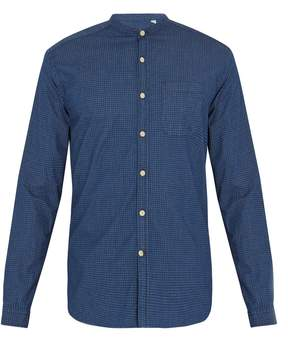 Oliver Spencer Grandad-collar stretch-cotton shirt