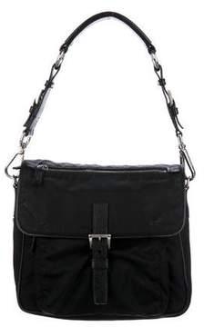Prada Leather-Trimmed Tessuto Shoulder Bag