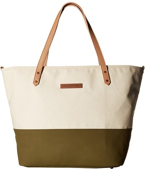 petunia pickle bottom - Glazed Color Block Downtown Tote Tote Handbags