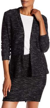 Blanc Noir One-Button Tweed Cardigan