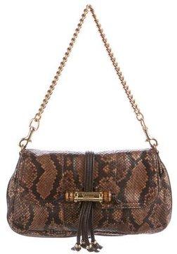 Gucci Python Croisette Evening Bag - BROWN - STYLE