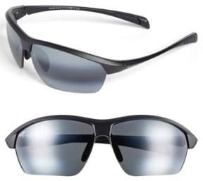 Maui Jim Men's 'Stone Crushers - Polarizedplus2' 71Mm Sunglasses - Matte Black