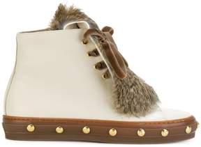Baldinini studded fur boots